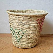 Dekorácie - Big basket for laundry and everything | Pletený palmový kôš - 10511582_