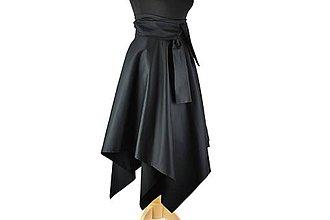 Sukne - sukňa asymetrická s výraznou viazačkou - 10508134_
