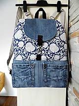 Batohy - Rifľový batoh v kombinácií s ľanom no.7 - 10508127_