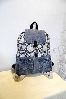 Batohy - Rifľový batoh v kombinácií s ľanom no.7 - 10508126_
