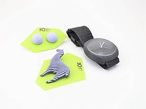 Sady šperkov - Sada hodinky, náušnice bobule a lama lilac - 10508467_