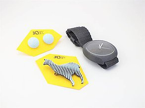 Sady šperkov - Sada hodinky, náušnice bobule a lama baby blue - 10508494_