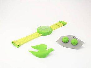 Sady šperkov - Sada hodinky, náušnice bobula a holubička green - 10508533_
