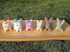 Hračky - Háčkovaní zajačikovia (Oranžová) - 10511353_