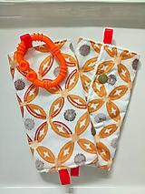 Detské doplnky - Ochranné návleky na popruhy na ergonosič oranžové - 10509469_