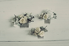 Ozdoby do vlasov - Set hrebienkov Purity - 10510603_