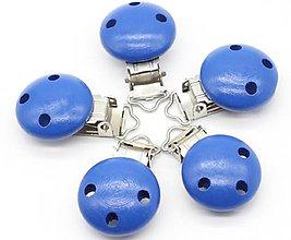 Polotovary - KL102 Klip na dudlík drevený 2,9 x 4,4 cm (Tmavo modrá) - 10510069_