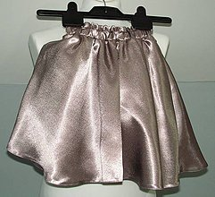 Detské oblečenie - detská saténová suknička - 10510392_