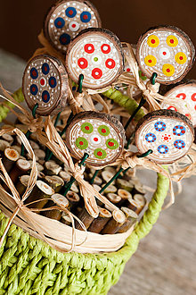 Dekorácie - Jarný košík - 10511651_