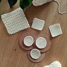 Úžitkový textil - Set háčkovaných tampónov a žinky na telo - 10510277_