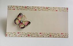 Papiernictvo - Obálka s motýlikom - 10510054_