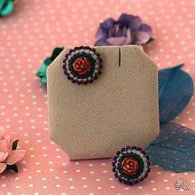 Náušnice - Královna růží puzety - 10510487_