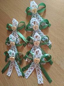 Pierka - Greenery svadobné pierko - 10513401_