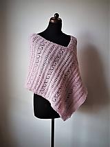 Iné oblečenie - Pončo nežné - alpaka s prírodným hodvábom - 10513800_
