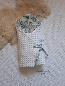 Textil - zavinovačka - Biele minky /dizajnová 100% bavlna - 10513241_