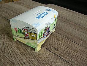 Krabičky - pokladnička lokomotíva Tomáš - 10513164_