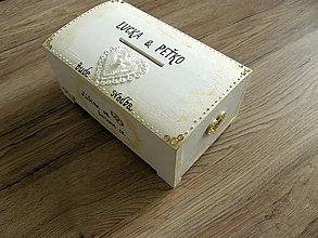 Krabičky - pokladnička SVADOBNÁ - 10513579_