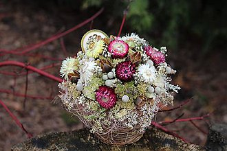Dekorácie - Aranžmán zo sušených kvetov - 10513467_