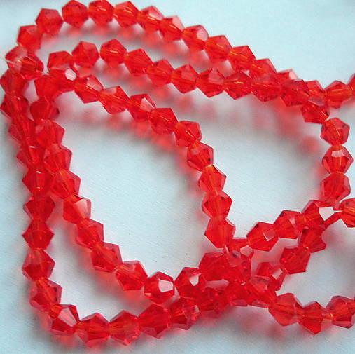 CrystaLine Beads™/bicone 4mm-1ks (červená)
