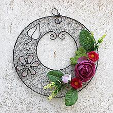 Dekorácie - Věneček růžový... - 10514888_