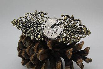 Iné šperky - Velká steampunková spona do vlasů - torzo strojku - 10512246_