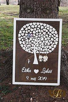 Dekorácie - Svadobný strom 120 ľudí, s dievčatkom - 10512072_