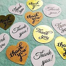 """Papier - papierové nálepky """"Thank you"""" - 10514429_"""