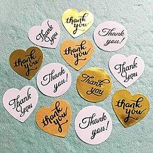 """Papier - papierové nálepky """"Thank you"""" (Biele srdiečko) - 10514488_"""
