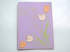 Papiernictvo - Veselé tulipány - 10514144_