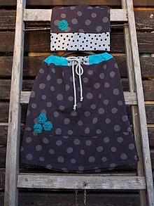 """Detské súpravy - """"Bodky sú IN""""  dievčenská sukňa s čiapkou - 10511862_"""