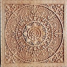 Obrazy - Drevorezba Mandala rodiny - 10513442_