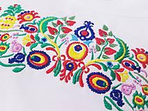 Tričká - Vyšívané dámske tričko s veľkým ľudovým motívom - 10513699_