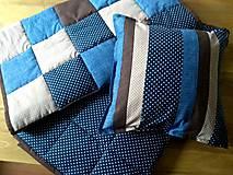 Úžitkový textil - Prehozy Modrá/Hnedá - 10512713_