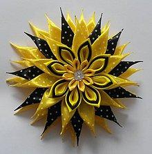Detské doplnky - Veľký ozdobný kvet aj na karneval - bodkovaný - 10513600_