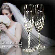 Nádoby - Svadobné poháre na zakázku pre_ - 10512970_