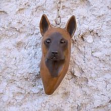 Kľúčenky - Belgický ovčiak - malinois - kľúčenka podľa fotografie - 10512668_