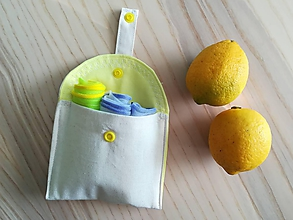 Nákupné tašky - Kapsička na eko vrecká (Yellow) - 10514415_