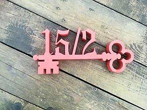 Tabuľky - Popisné číslo: Ozdobný kľúč - 10512186_