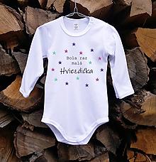 Detské oblečenie - Detské body - Hviezdička - 10514435_