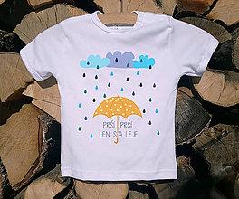 Detské oblečenie - Detské tričko - Prší, prší - 10514530_