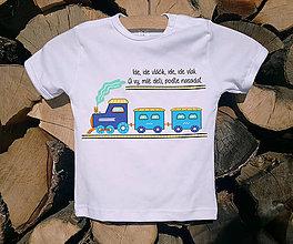 Detské oblečenie - Detské tričko - vlak - 10514588_