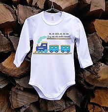 Detské oblečenie - Detské body - vlak - 10514613_