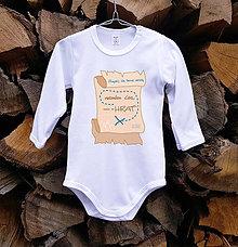 Detské oblečenie - Detské body - nemám čas - 10515049_