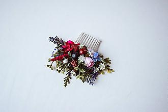 Ozdoby do vlasov - Jemný kvetinový hrebienok - 10512519_