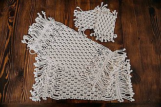 Úžitkový textil - macramé prestieranie - 10513087_