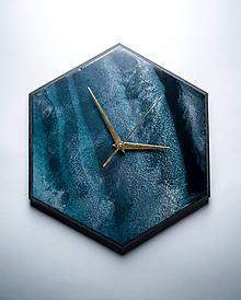 Hodiny - Živicové dekoračné hodiny - Marble - 10515125_