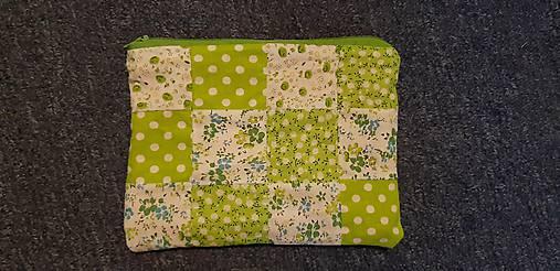 633a2b18eb Kozmeticka taška Green Patchwork   Flowerna - SAShE.sk - Handmade ...