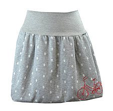 Sukne - Balónová sukně s výšivkou... Cyklistická - 10512401_