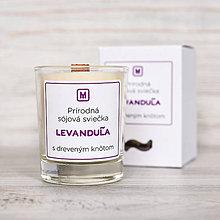 Svietidlá a sviečky - Sójová sviečka LEVANDUĽA - 10512438_