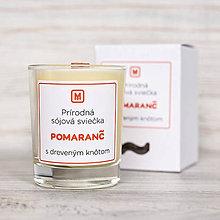 Svietidlá a sviečky - Sójová sviečka POMARANČ - 10512451_